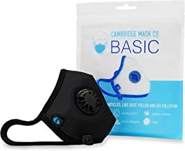 Cambridge Mask Co Basic Mask Pollution Face Mask for Biking, Cycling, Running Reusable, Washable, Adjustable for Adults an...