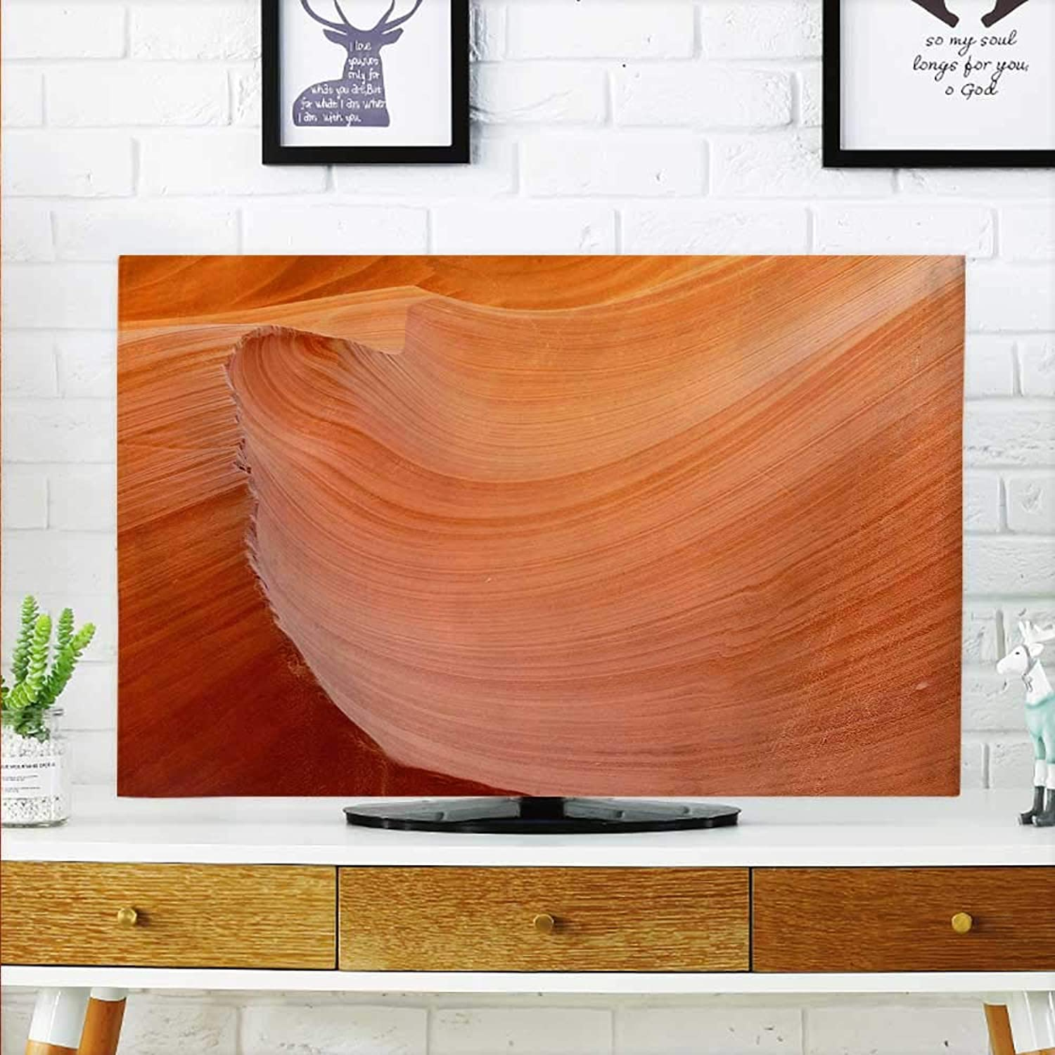 Aolankaili Cover for Wall Mount tv Rich and colorful Sand Cover Mount tv W35 x H55 INCH TV 60