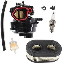 AISEN Carburetor for Troy Bilt TB110 TB200 Poulan Pro Briggs & Stratton 550EX 625EX 675EX 725EXI Husqvarna LC121P Briggs & Stratton 799584 Carb Air Filter