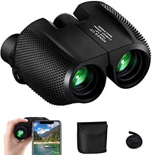 Binoculars High Power, 10x25 HD Binoculars Folding Compact Waterproof Telescope Binoculars kids for Bird Watching Outdoor ...