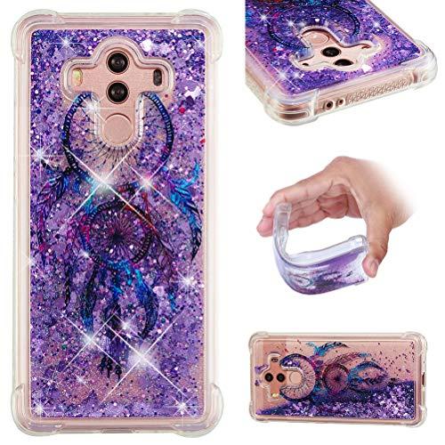 Jieheng Huawei Mate 10 Pro Hülle, Glitzer Bling Bumper Liquid TPU Case Cover 3D Flüssig Treibsand Transparent Silikon Handyhüllen für Handy Hüllen für Huawei Mate 10 Pro