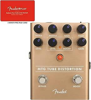 Fender MTG Tube Distortion Effects Pedal w/Fender Play Card