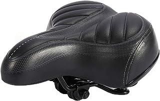 Cojín ultra suave, BiuZi 1Pc Sillín de bicicleta Sillín de bicicleta de ciudad Cojín ultra suave Cojín de bicicleta de montaña más grueso Asiento negro mate de bicicleta