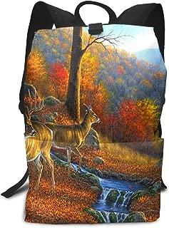 Backpack Alpine Flowing Deer Waterproof Computer Back Pack Laptop Daypack for Women Men