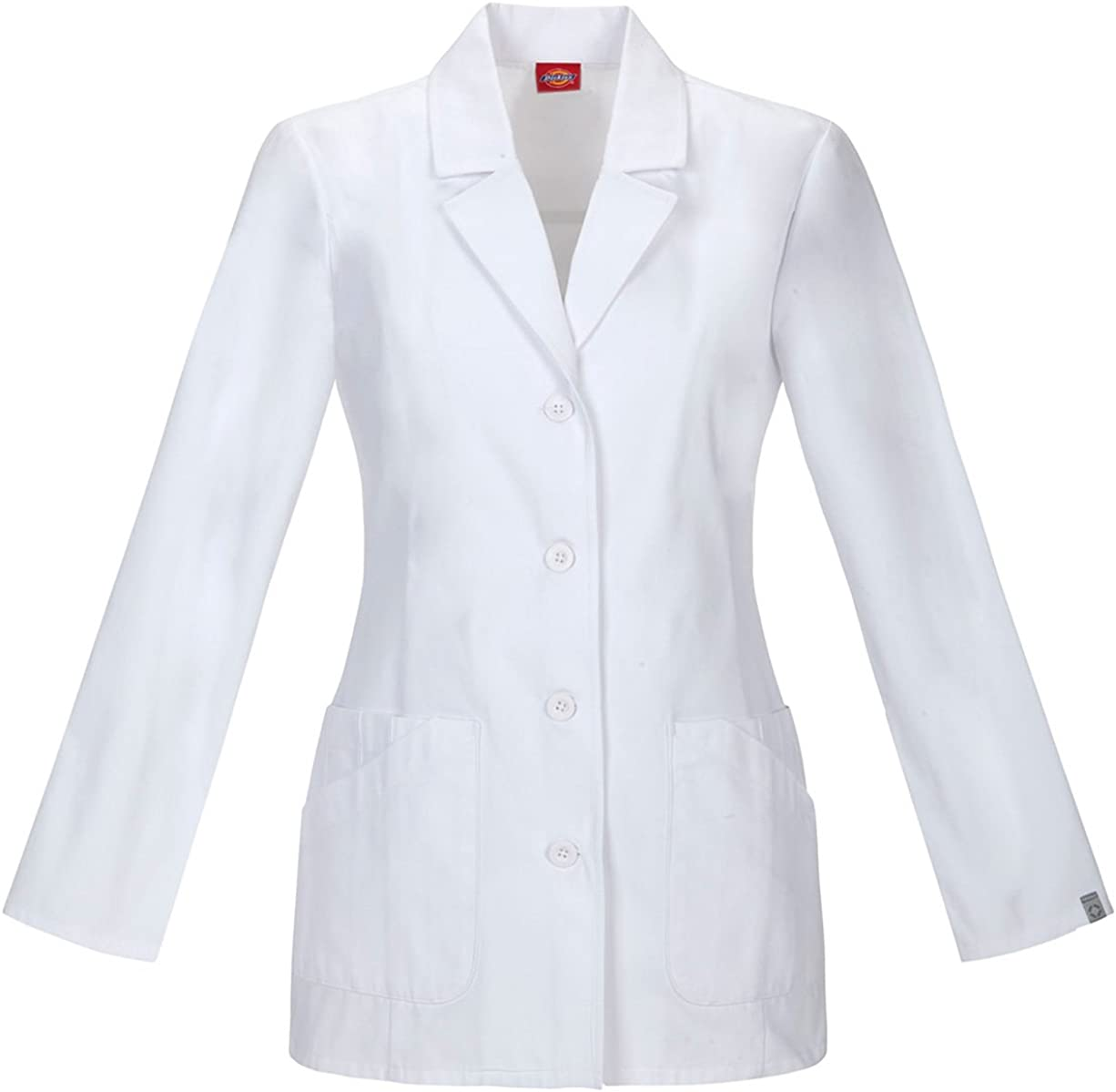 Dickies Women's 29 Inch Alternative 25% OFF dealer Lab Coat SILVADUR White Treated with L