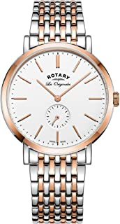 Rotary Mens Analogue Classic Quartz Watch with Stainless Steel Strap GB90191/01
