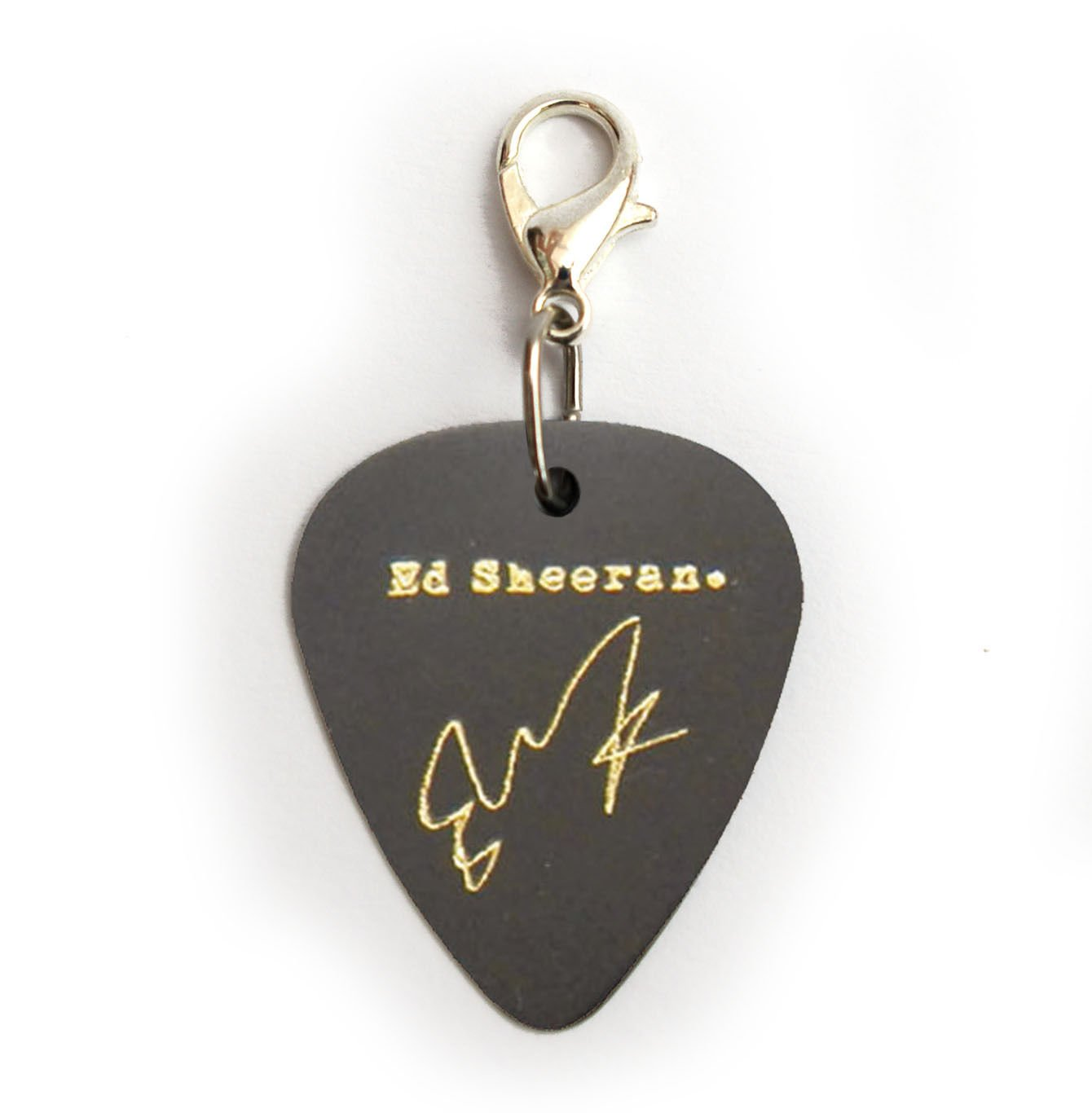 ED SHEERAN Signature Guitar Pick Plectrum necklace bracelet keyring Earrings pin(Charm A): Amazon.es: Instrumentos musicales