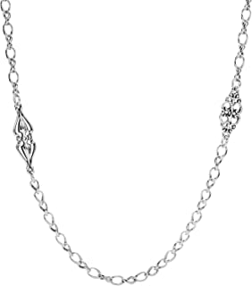 Carolyn Pollack Sterling Silver Couture Station Chain Necklace 24 or 32 Inch