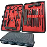 Manicure Set-18 in 1 Stainless Steel Nail Care Kit-Professional Pedicure Kit Nail Clipper Grooming Kit-Nail Scissors Set...