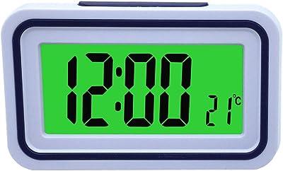 VSONE Reloj Despertador Parlante en Español, Alarma LCD con voz, Reloj Hablando (Blanco. Menos como esto