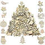 Pllieay - 100 adornos de Navidad hechos a mano para decoración de Navidad, manualidades y tarjetas