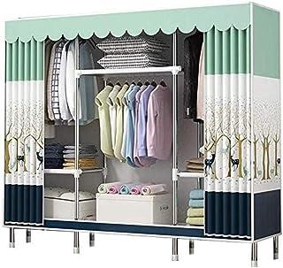 HWG Armoire Tissu Armoire Rangement, Installation Simple Et Rapide avec Rail Suspendu Pliable, pour Protéger Les Vêtements...