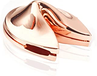 Folsom Metal Fortune Cookie Box Charm Rose Gold Color Free Size Fro Gifts and Souvenirs