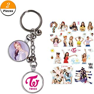 Youyouchard Kpop Twice Keychain Poster Album #TWICE2 UMGEBUNG Key Chain Key Rings for Fans - A Sheet of Twice Stickers Included(Dayeon)