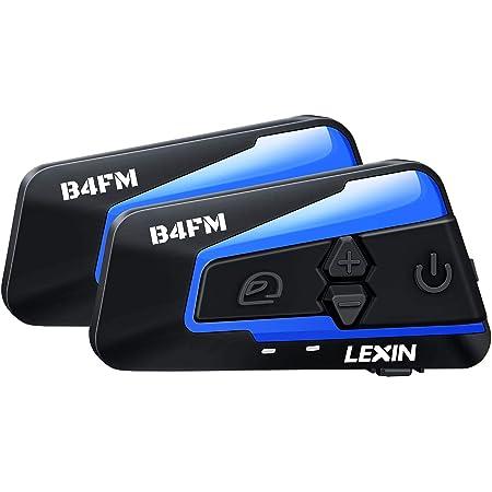 2 x LEXIN Motorradhelm Bluetooth v5.0 Gegensprechanlage ETCOM /& FM /& 6 DIY Farbe