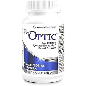 Pro-Optic Traditional Formula (Age Related Eye Disease Study 2 Based), 90 Capsules, 1 Per Day
