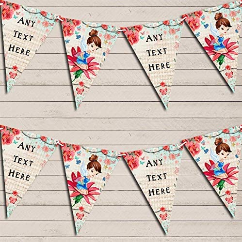 Vintage Shabby Safety and trust Chic Elegant Floral Buntin Christening Personalized Fairy