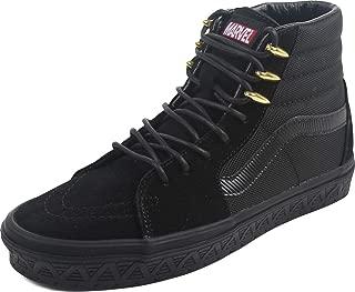 Vans - Unisex-Adult SK8-Hi Shoes, Size: 3.5 D(M) US Mens / 5 B(M) US Womens, Color: (Marvel) Black Panther/Black