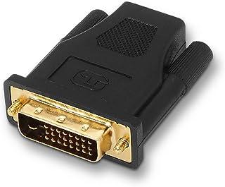 AISENS A118-0091 - Adaptador DVI a HDMI para Pantalla Full HD, Color Negro
