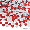Metallic Foil Red and Silver Heart Confetti by Fun Express