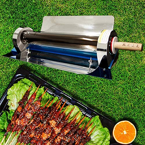 HMLIGHT Portatile Esterno del Tubo di Alimentazione Solare Barbecue Singolo Campeggio Forno Fuel Free Stufe Fornello Barbecue Cooking Tools Cucina sottovuoto