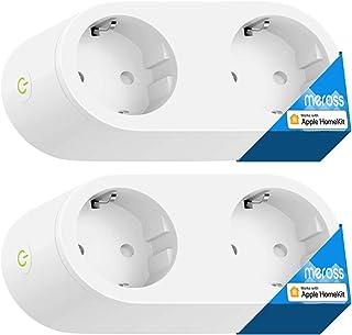 meross Doppia Presa Intelligente Smart Plug Multipresa Spina WiFi Ciabatta Compatibile con Homekit, Alexa, Google Home e I...