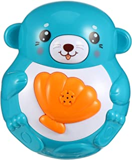 KESYOO Bath Toy Cute Cartoon Spray Water Toy Electric Sprinkler Bathtub Toy for Kids Bathing Playthings Without Battery Blue