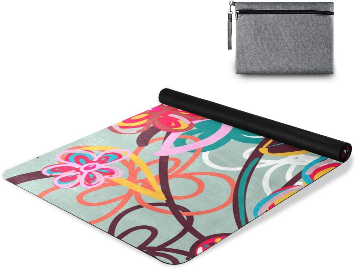 senya Non Opening large release sale Slip Yoga Towel Comb Mat Leaves Microfiber Flower Many popular brands