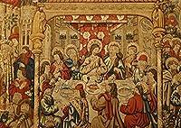 絵画風 壁紙ポスター (はがせるシール式) 最後の晩餐 イエス・キリスト レオナルド・ダ・ヴィンチ キャラクロ SGB-005A2 (A2版 594mm×420mm) 建築用壁紙+耐候性塗料