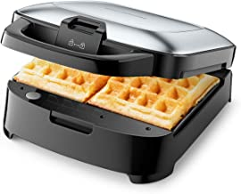 Elechomes Belgian Waffle Maker with Removable Plates, Easy to Use and Dishwasher Safe, Non-Stick, 2-Slices, Cord-Storage, ...