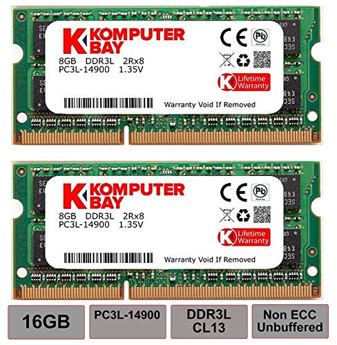 Komputerbay 16GB Kit (2 x 8 GB) 204 pin DDR3-1867 1867MHz SO-DIMM (1866MHz / 1867MHz, PC3-14900) passend für Apple iMac Retina 27