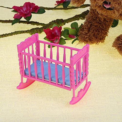 Domybest Set di Mini Giocattolo Modello di Lettino in Plastica Accessori Simulati Carini per Mini Scena