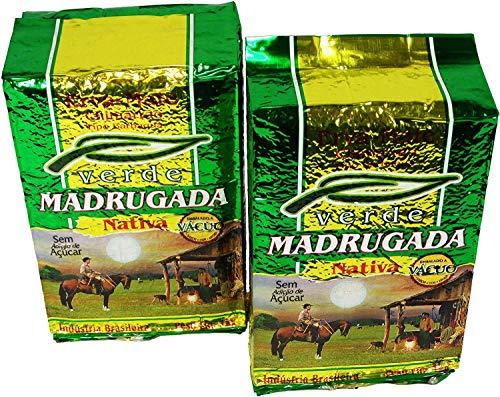MADRUGADA Tradicional Erva Mate 1 Kg. 2 PACK | Yerba Mate Tea 2.2 Lb.