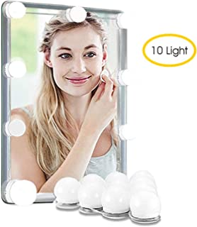LED Vanity Makeup Mirror Lights Kit, ULYCOOL Hollywood Style DIY Mirror Light with 10 Pcs 9 Level Brightness Adjustable Bulbs for Makeup Dressing Table