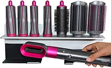 Storage Holder for Dyson Airwrap Styler Accessories Wall Mounted Rack Bracket Stand with Adhesive for Home Bedroom Bathroom Organizer, Silver