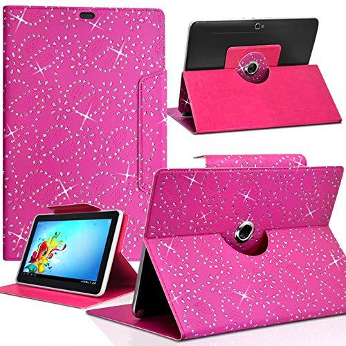 KARYLAX Universal S Diamond Case for Amazon Fire HD 8 8 Inch Tablet Fuchsia Pink