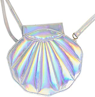 Fenical Umhängetasche Perlenriemen PU-Leder Muschel Umhängetasche einzelne Umhängetasche für Mädchen Damen Frauen