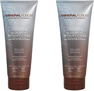 Mineral Fusion Volumizing Shampoo (Pack of 2) with Certified Organic Aloe Vera Leaf Juice, Malachite Extract, Smithsonite Extract, Jojoba Seed Oil, Montmorillonite Clay and Olive Oil, 8.5 fl. oz.