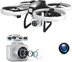 EACHINE E020, Drone con Camara 4k, Seguimiento de Vuelo Drone LED WiFi FPV Transmisión en Tiempo Real 13 Minutos Batería Grande Cubierta Protectora Alarma de Batería Baja