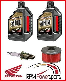 RPM Fits Honda TRX400EX Tune Up Kit Engine Oil Change NGK Spark Plug Oil Filter 400EX