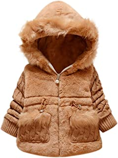 Winter Kids Baby Girl Coat Toddler Hooded Long Sleeve Jacket Warm Thick Outwear Snowsuit