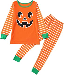 Toraway Kids Pajamas Kid Baby Girls Tops T-Shirt Pants Family Pajamas Sleepwear Halloween Set Outfits Kids Sleepwear