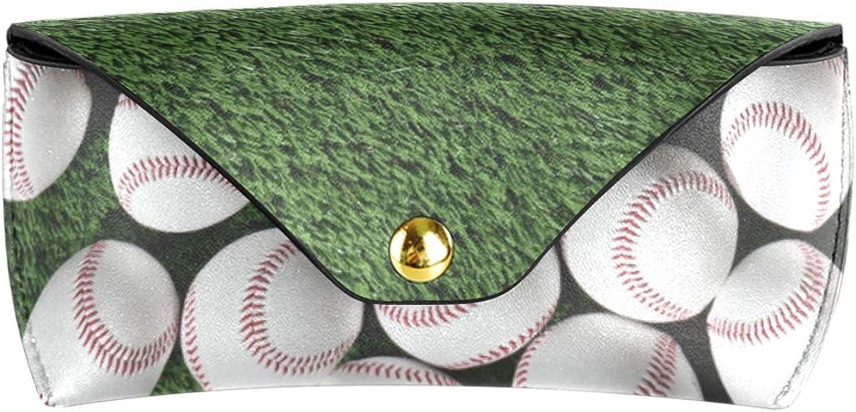PU Leather Sunglasses Case Eyeglasses Pouch Goggles Bag Portable Baseball Grassland gift Multiuse