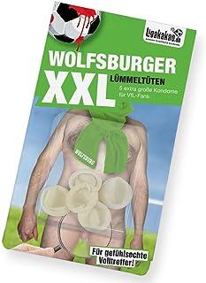 Wolfsburger Spezial-LÜMMELTÜTEN   Safer Sex   Mini-Kondome zum Schutz vor unerwünschter Vermehrung von VFL-Fans!