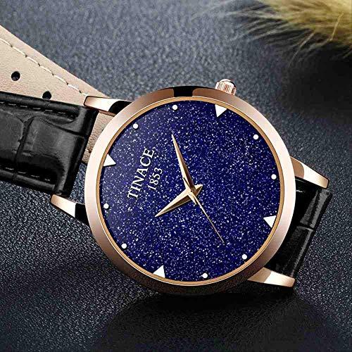 WMYATING Exquisito, Hermoso, decente, novedoso y único. Relojes de Pulsera Reloj a Prueba de Agua para Mujer Reloj de Reloj de Cuarzo Reloj de Mujer Reloj electrónico de Estudiante (Color : Black)
