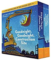 Goodnight, Goodnight, Construction Site and Steam Train, Dream Train Board Books Boxed Set (Board Books for Babies, Preschool Books, Picture Books for Toddlers)