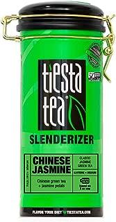 Tiesta Tea Chinese Jasmine Classic Jasmine Green Tea, 50 Servings 5 Ounce Tin, Medium Caffeine, Loose Leaf Green Tea Slenderizer Blend, Non-GMO