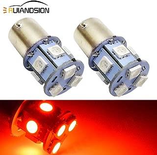 Ruiandsion 2pcs 1156 BA15S LED Bulbs Super Bright Red 6-30V 5050 9SMD LED Tail Lights Brake Lights Bulbs