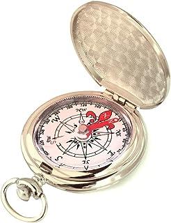 羅針盤 方角 方位 磁針 調べる アウトドア 引っ越し 方位 コンパス 登山 方角 磁石 方位磁石 コンパス 金属 懐中時計式 ポータブル 軽量 高精度 銀色