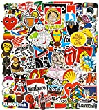100Pcs Brand Stickers, Cool Stickers Waterproof Vinyl Stickers for Water Bottles, Laptop Stickers Skateboard Stickers for Teens Computer Stickers Motorcycle, Bicycle, Graffiti Patches Decal